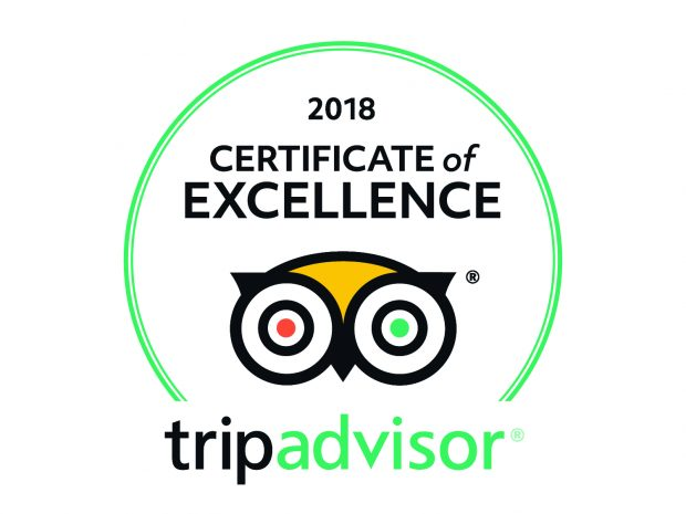 We have been awarded a Certificate of Excellence from Trip Advisor